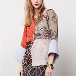 L.P.O. by Laurence Maheo Julie Patchwork Blouse